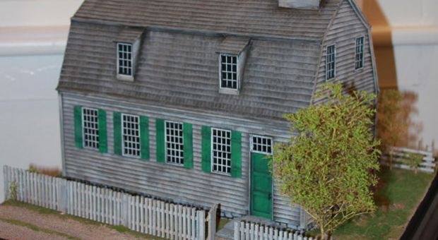 "In 2010, the Cornwall Historical Society mounted an exhibition on the Foreign Mission School. It included this scale model of its ""Academy building."""