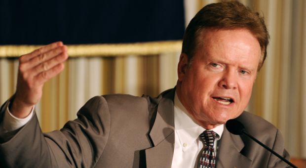 US Senator and Chairman of the East Asia and Pacific Affairs Subcommittee Jim Webb answers a question during his press conference on North Korea and East Asia and Pacific affairs issues at the Foreign Correspondents' Club in Tokyo on April 5, 2012.