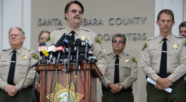 Santa Barbara County Sheriff Bill Brown speaks at a press conference regarding murder suspect Elliot Rodger in Goleta, California. Rodger, 22, went on a deadly rampage in Isla Vista near the University of California at Santa Barbara campus.