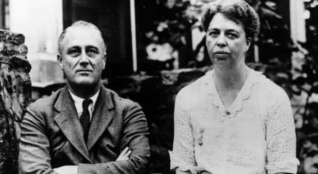 Democratic politician and the 32nd President of the United States Franklin Delano Roosevelt (1882 -