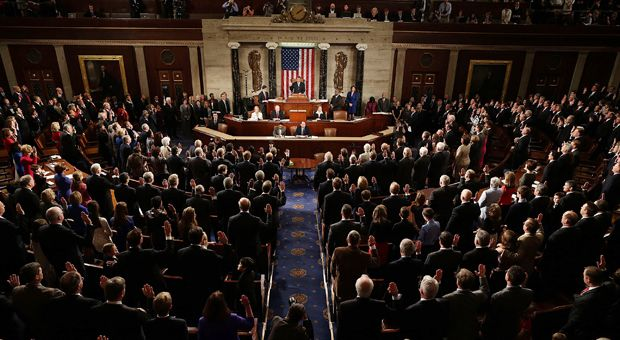 Speaker of the House John Boehner (R-OH) swears in the newly elected members of the first session of the 113th Congress on January 3, 2013 in the House Chambers in Washington, D.C.