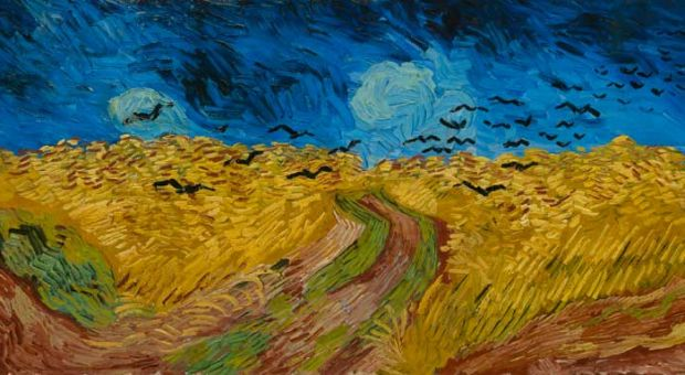 Vincent van Gogh's Wheat Field With Crows.