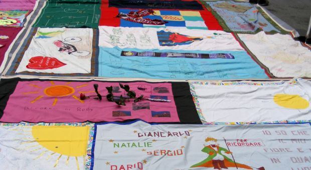 Aids Memorial Quilt on display, 2007