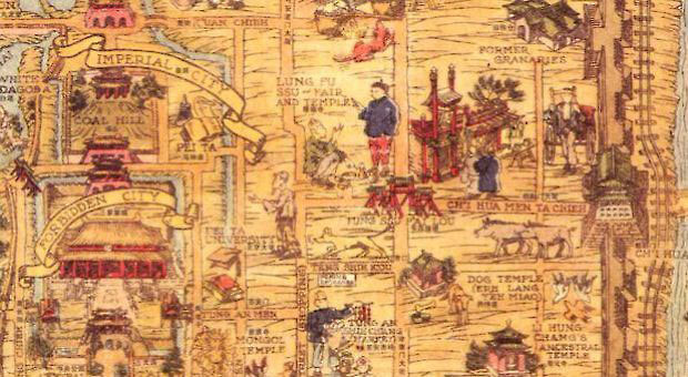 Partial map, old Peking