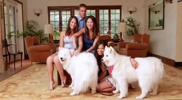 Author Amy Chua and family