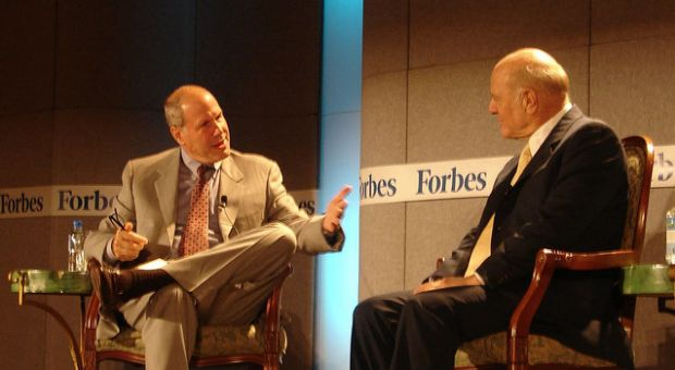 """Michael Eisner and Barry Diller at a Forbes """"MEET"""" event, 2006"""