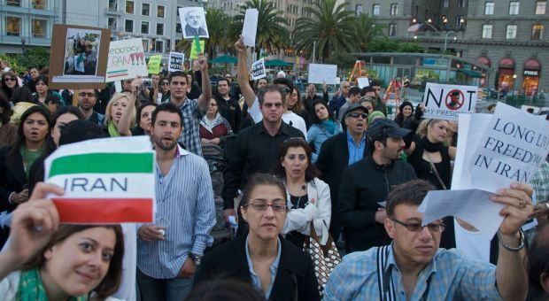 June 2009 solidarity protests in San Francisco surrounding the disputed Iranian election result