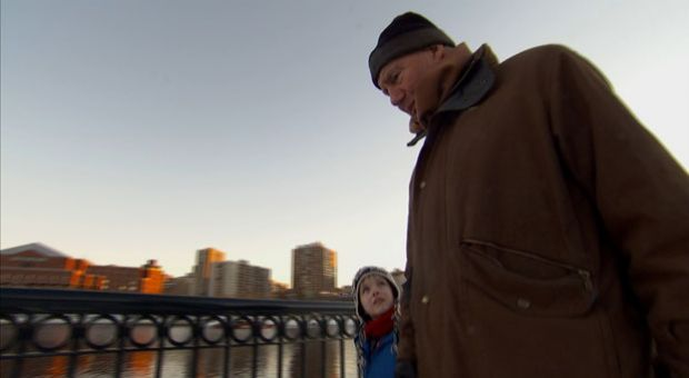 Robert MacNeil with his grandson, Nick.