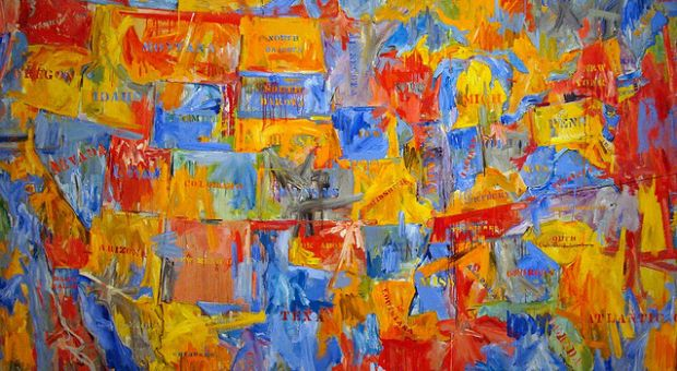 Japser Johns, 1961, oil on canvas; from the Museum of Modern Art (MOMA), New York, New York.