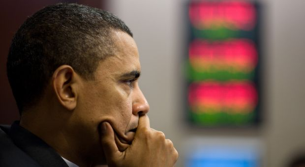 President Barack Obama listens, during a meeting on Afghanistan and Pakistan, in the Situation Room of the White House, April 16, 2010