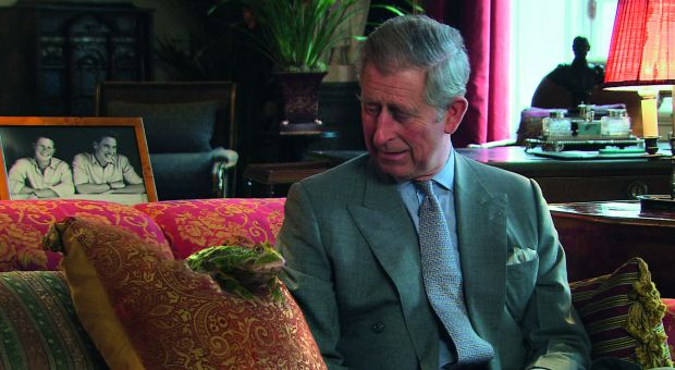 Prince Charles of Wales, with frog