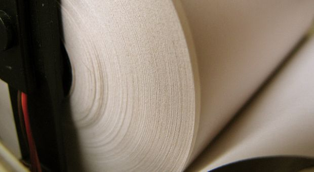 Thermal paper used for many receipts