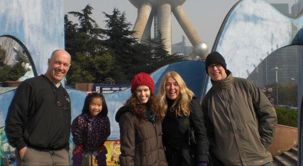 Ann Hood's family in Shanghai, Dec. 2009