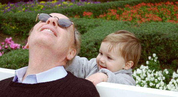 Author Roger Rosenblatt with his grandchild.