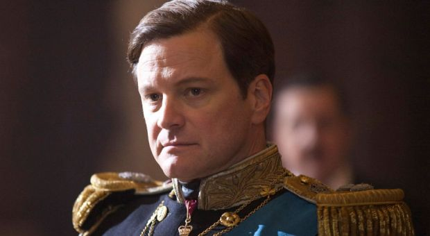 "Colin Firth as King George VI in Tom Hooper's film, ""The King's Speech."""